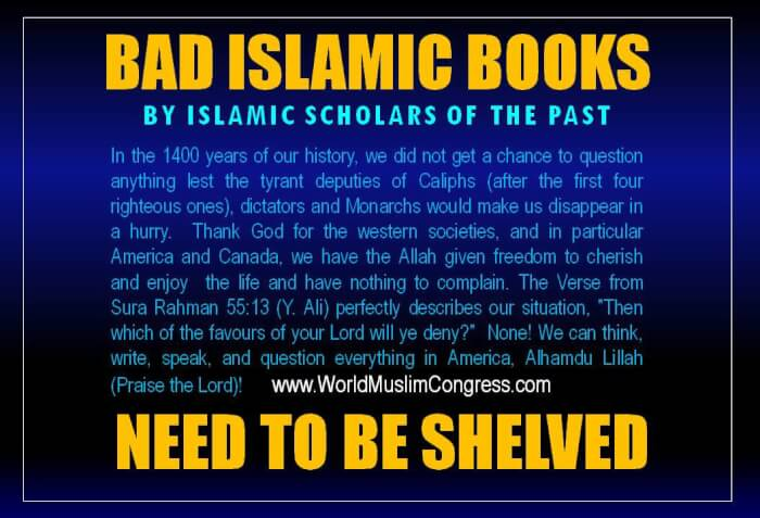 Bad Islamic Books need to be shelved
