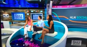 "Ali Nejad (center) also appears on the HLN program ""The Daily Share"" which includes co-host Yasmin Vossoughian (left). Nejad and Vossoughian discuss the latest news and controversies of the day."