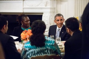 President Barack Obama hosts an Iftar dinner celebrating Ramadan in the State Dining Room of the White House, July 14, 2014. (Official White House Photo by Amanda Lucidon)