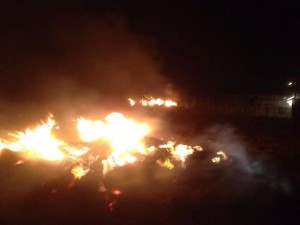 Jewish settler terrorists burn Christian Arab land at the only Christian village int he Israeli occupied West Bank, Taybeh. Christians are often the targets of uncontrolled Settler terrorism