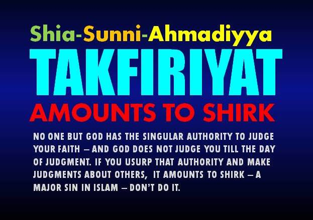 Shia and Sunni Takfiriyat