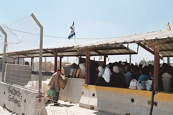 English: Picture of Israeli checkpoint in the ...
