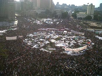 Tahrir Square, Cairo, Egypt February 2011. Photo courtesy of Zemanta/Wikipedia