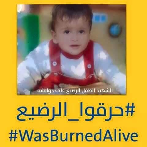 Jewish settler terrorists murder 18 month old Palestinian child