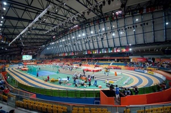 The Aspire Dome Sports Stadium in Qatar