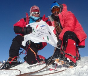 Naira Musallam and Tim Lawson at the summit of Denali (PRNewsFoto/NYUSPS)