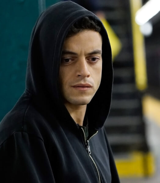 "Egyptian American Arab Actor Rami Malek who stars in the USA Networks news TV series, ""Mr. Robot"""