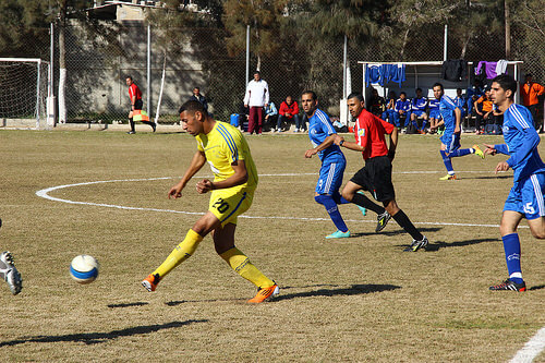 Israel and Palestine play high stakes soccer