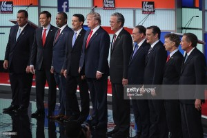 Candidates in the Cleveland GOP Debate, Courtesy of Getty Images (Zemanta)