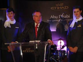 Mayor Daley welcomes Etihad Airways to Chicago O'Hare in 2009