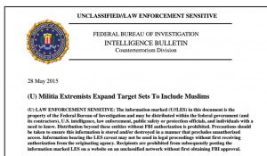 FBI Bulletin on domestic militias Targeting Muslims