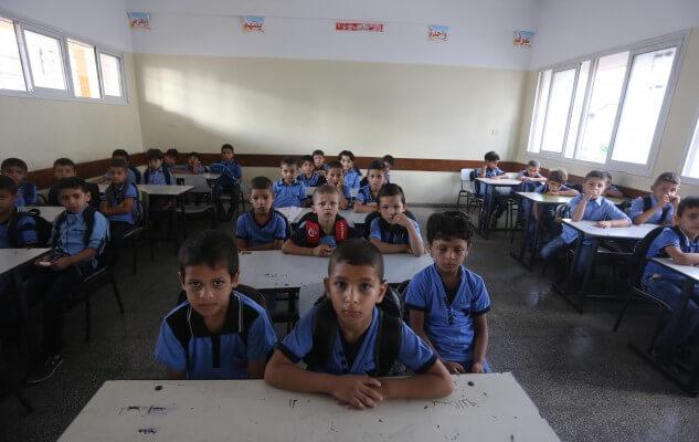 Gaza schools in shambles as children return