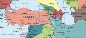Map of Turkey, Syria Border