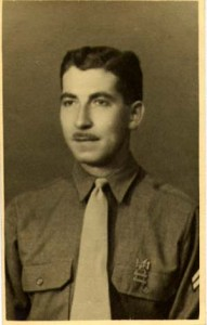George John Hanania in U.S. Army uniform after enlisting with his brother Moses in 1941