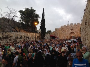 procession of the icon for the Holy Virgin Mary in jerusalem