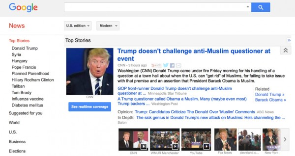 Google Image of top stories from Friday screaming headlines that Trump didn't do enough