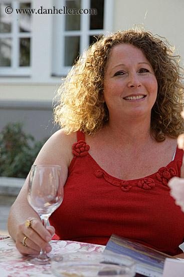 Cheryl Hanin Ben Tov enjoying the good life. Photo (c) www.danheller.com 2003