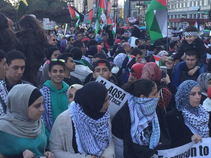15,000 Chicago protestors demand end to Israeli occupation