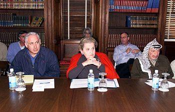 English: Secretary of State Madeleine Albright...