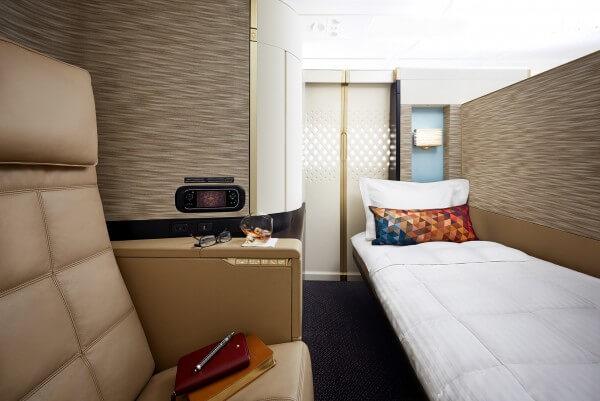 Etihad Airways - A380 First Apartment Bed & Seat (PRNewsFoto/Etihad Airways)