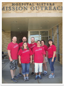 Members of Abraham's Children supported by the First Presbyterian Church in Wheaton, Illinois bringing medical supplies to Nazareth int he Galilee