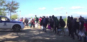Syrian refugees make their way through Hungary in Sept. 2015 to Europe. Photo courtesy of Seth J. Frantzman