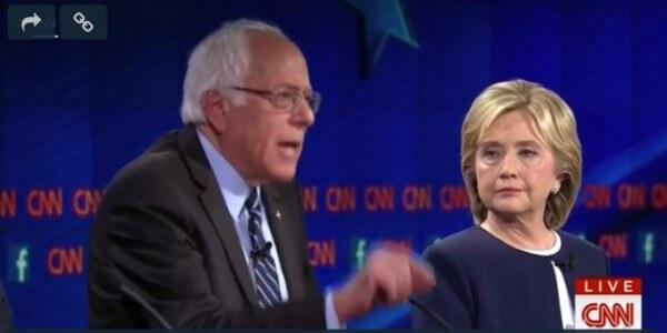 CNN Presidential Debate Oct. 13, 2015 Sanders and Clinton