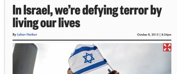 Headline on Harkov's column int he anti-Arab New York Post