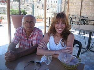 Mordechai Vanunu and Eileen Fleming, June 2009 after attending church at the Lutheran Church of the Redeemer in the Old City