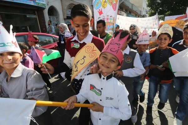 Gaza children celebrate World Children's Day