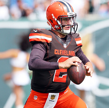Cleveland Browns bench American Arab Johnny Manziel