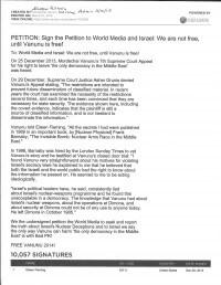 Freedom for Pollard and Vanunu