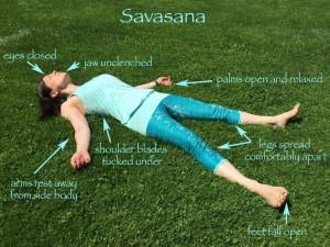 Savasana/corpse pose