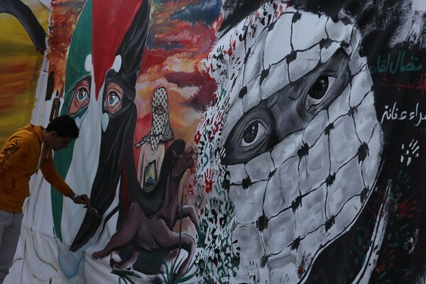 Palestinians protest Israeli violence with creative talents