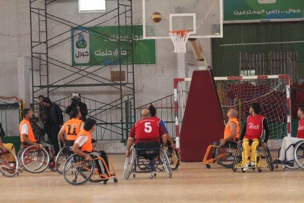 Disabled Palestinians compete in Basketball