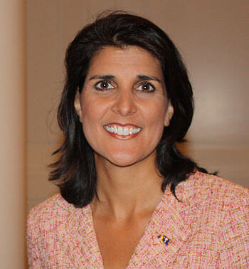 UN Ambassador Nikki Haley. Photo courtesy Wikipedia