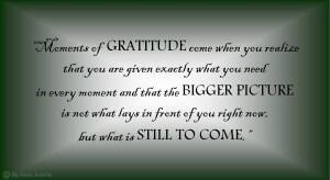 Gratitude even for uncertainty