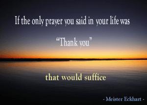 Gratitude, Meister Eckhart