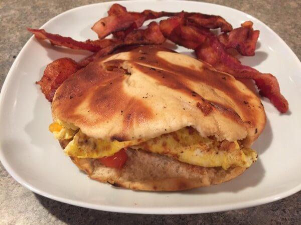 Arabian omelette pita sandwich