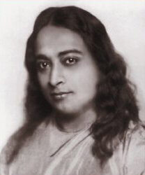 Paramahansa Yogananda as depicted on the cover...