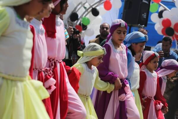 Palestinians celebrate Children's Day April 6. Copyright (C) 2016 Mohammed Asad. All Rights reserved. Photos may be reproduced with proper credit to Mohammed Asad and the Arab Daily News
