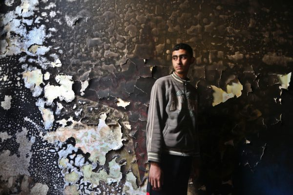 Three brothers killed in fire caused by candles in Gaza home. Copyright Mohammad Asad 2016, All Rights Reserved