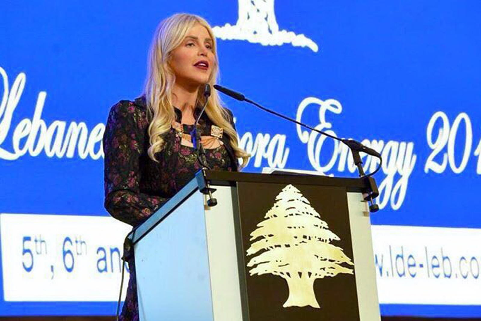 "Prominent Michigan Accident Attorney Joumana Kayrouz keynotes the opening day of the 3rd Annual Lebanese Diaspora Energy Conference in Beirut, Lebanon on May 5, 2016, urging Lebanese Americans to support Lebanon ""with their hearts, their minds, their citizenship and their pocketbooks."" www.YourRights.com"