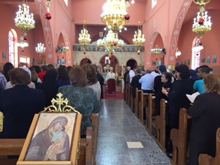 Services held in Taybeh to honor St. George Day at St. George Church. Photos courtesy of Dr. Maria Khoury