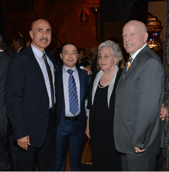 Tony Rezko with friend Mr. Youseph Khalaf who flew in from the Middle East for the dinner, and Chicago political icon Ed Kelly (far right) and Mrs. Kelly. Photo Copyright Tony Rezko Family 2016. All Rights Reserved.