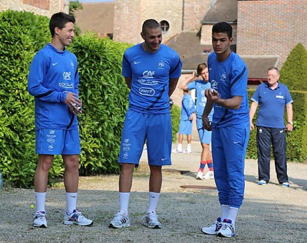 Soccer players, i France