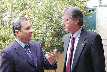 Prime Minister Ehud Barak and SMEC Dennis Ross...