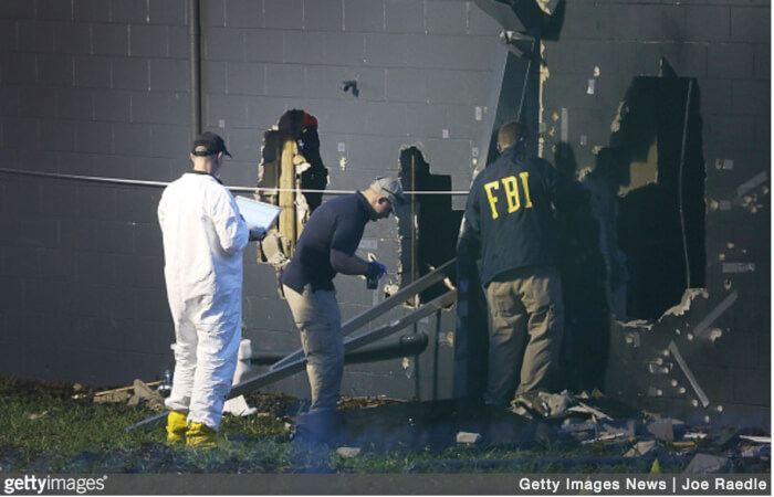 FBI Investigate the aftermath of the terrorist attack against the pulse Nightclub Sunday morning in Orlando Florida. Image Copyright (C) Getty Images and Photographer Joe Raedle courtesy of Zemanta.
