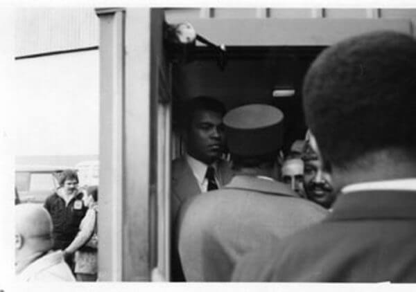 Muhammad Ali in 1976 meeting the Sheik of Sharja, UAE Sultan Mohammad Bin al-Qasimi
