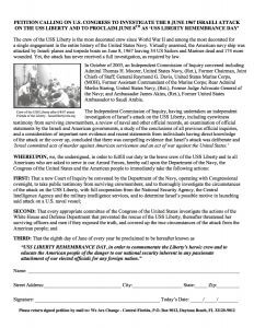 USS Liberty Remembrance Day Petition 2016 copy
